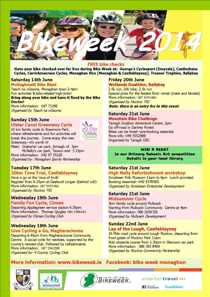 Bike Week Monaghan events